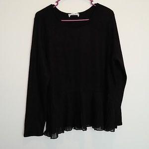 LC Lauren Conrad mixed media sweater Women's XL